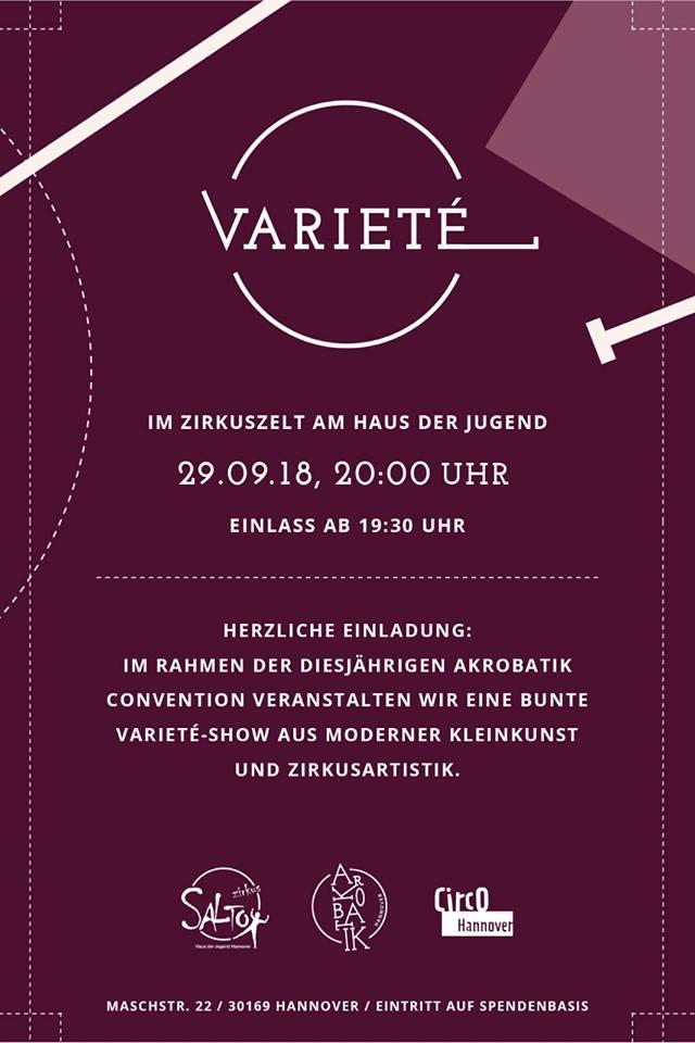 Varieté-Show im Rahmen der Hannover-Akrobatik-Convention 29.09.18